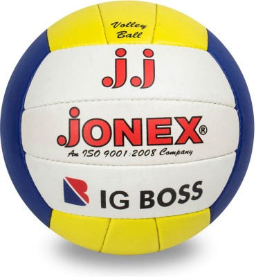 JJ Jonex Big Boss Volleyball for Indoor and Outdoor games @ Kin Store Volleyball - Size: 4(Pack of 1, White, Red, Blue, Yellow)