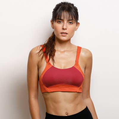 56a95aab1516a 49% OFF on Zelocity By Zivame Women s Sports Lightly Padded Bra(Red) on  Flipkart