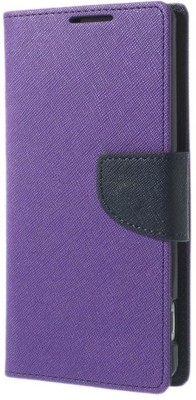 AMETHYST Flip Cover for LENOVO VIBE K5 PLUS, Lenovo A6020a46(Purple, Dual Protection, Artificial Leather, Cloth, Silicon)