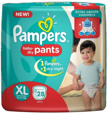 Pampers Pant Baby Diapers, XL 28 Pieces