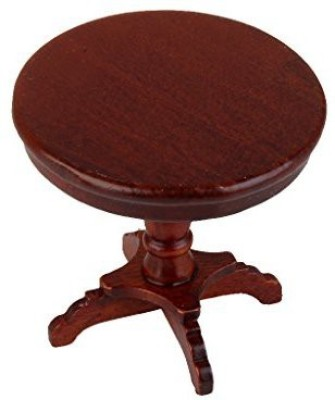 Monkeyjack Wooden Furniture Round Tea Coffee Table Desk For 1:12 Dollhouse Garden/Room(Multicolor)  available at flipkart for Rs.1378