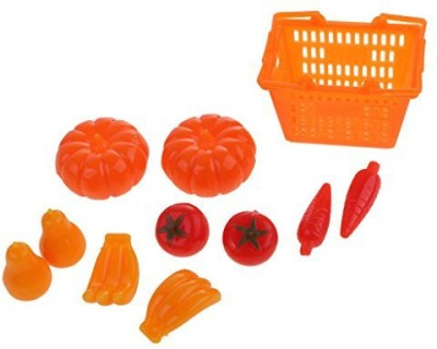 Dovewill 11Pcs/Set Fruits Vegetables Shopping Basket For Barbie Dolls House Miniature Kitchen Decoration Toys(Multicolor)  available at flipkart for Rs.800
