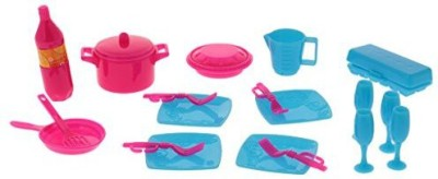 Magideal 18Pcs Kitchen Tableware Accessories Set For Barbie Mini Cup Cutlery Pot Toys(Multicolor)  available at flipkart for Rs.654