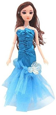 Generic 1 Pcs Blue Handmade Corset Pleating Fishtail Skirt For Barbie Doll Clothing Shoes Doll House Accessories Birthday Christmas Gift(Multicolor)  available at flipkart for Rs.722