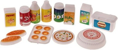 Jili Online 1/12 Scale Breakfast Set Dollhouse Miniature Food Juice Milk Drinks For Barbie Dolls Kitchen Decor(Multicolor)  available at flipkart for Rs.654