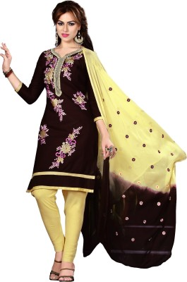 Oomph! Cotton Embroidered Salwar Suit Dupatta Material(Un-stitched) Flipkart