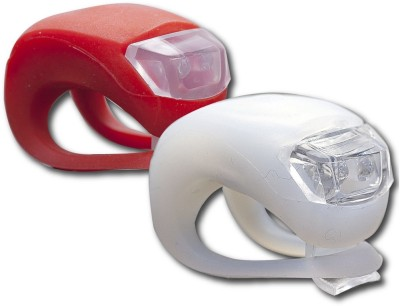 Star 2pcs of RED and White Silicone LED Water Resistant Front and Rear Bicycle Light, for Cycling Safety Flashlight LED Front Rear Light Combo(Multicolor)  available at flipkart for Rs.209