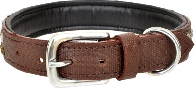 ZUMAR Dog Everyday Collar(45 - 66 cm, Brown)