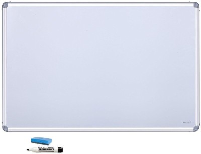 cognant Non Magnetic 1.5 foot * 1 foot White Board Whiteboards and Duster Combos(Set of 1, White)