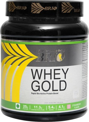 Brio Whey Gold Protein (500gm / 1.11lbs, Strawberry)