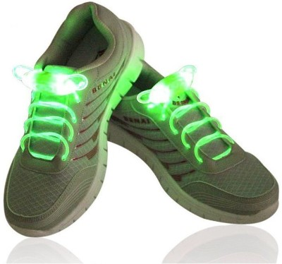 Trendzino ™ LED Shoelaces Light Up Shoe Laces with 3 Modes,KANGVO Flash Shoestrings for Party Hip-hop Dancing Cycling Hiking Shoe Lace(Green Set of 2)