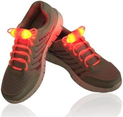 Trendzino ® LED Shoe Laces, AYAMAYA Light Up Glow Flashing Shoelaces with 3 Modes for Halloween Party Dancing Running Cycling Hiking Shoe Lace(Orange Set of 2)