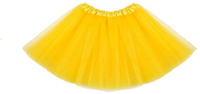 Theme My Party Solid Baby Girls Layered Yellow Skirt