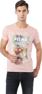 Allen Solly Printed Men Round Neck Orange T-Shirt  available at flipkart for Rs.540