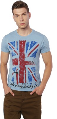 Allen Solly Printed Men Round Neck Blue T-Shirt  available at flipkart for Rs.540