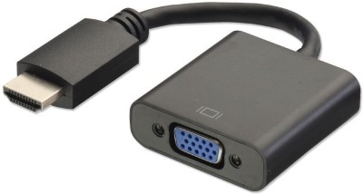 LipiWorld TV out Cable HDMI to VGA Converter Adapter Black, For DVD LipiWorld Mobile Cables