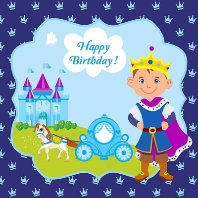 Theme My Party Party Birthday Banner for Cake Table - Scene Setter (Prince) Banner (15 ft, Pack of 1) Banner(25 ft, Pack of 1)