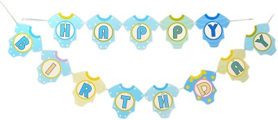 Instabuyz Party Decoration Happy Birthday Banner (Blue) Banner(24 ft, Pack of 1)