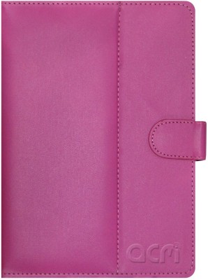ACM Book Cover for iBall Slide Nimble 8 inch(Pink, Cases with Holder)