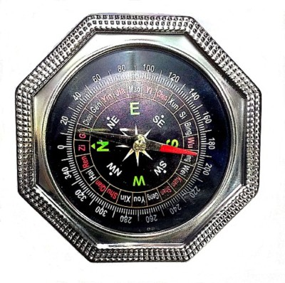 SelectionWorld Stainless Steel Directional Magnetic Travel Compass (8 CM) Compass(Black)