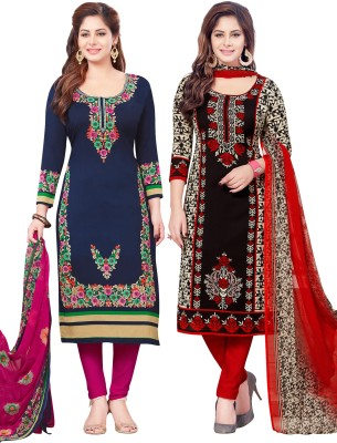 Salwar Studio Synthetic Printed Salwar Suit Dupatta Material(Un-stitched)