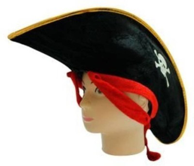 Theme My party Pirated Hats(Black, Pack of 1)