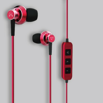 SoundMagic ES20BT Bluetooth Headset with Mic(Red, In the Ear)