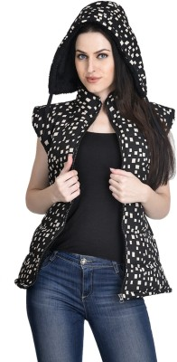 Candy House Sleeveless Printed Women's Quilted  Jacket
