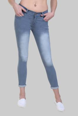 Crease & Clips Slim Women's Grey Jeans