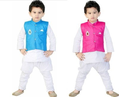 b4aebdee71 51% OFF on FTC FASHIONS Boys Festive & Party Kurta, Waistcoat and Pyjama Set(Multicolor  Pack of 2) on Flipkart | PaisaWapas.com