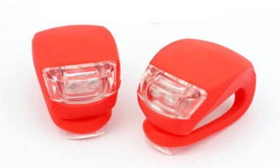 Star 2pcs of RED Silicone LED Water Resistant Front and Rear Bicycle Light, for Cycling Safety Flashlight LED Front Rear Light Combo(Red)  available at flipkart for Rs.209