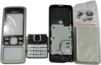 Boom Full Body Housing Panel For Nokia 6300 Full Panel(Silver)