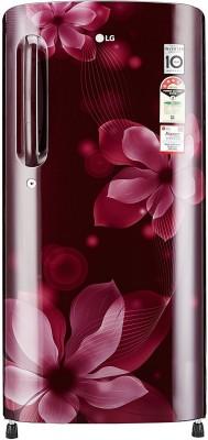 LG GL-B201ASOX.ASOZEBN 190L 4S Single Door Refrigerator (Scarlet Orchid)