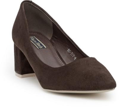 Flat n Heels Women Brown Heels