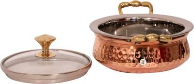 KDT Stainless Steel With Copper Bottom Handi - Medium Bowl Tray Serving Set(Pack of 1) at flipkart