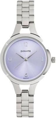Sonata 8151SM02 Steel Daisies Analog Watch For Women