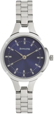 Sonata 8151SM04 Steel Daisies Analog Watch For Women