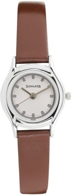 Sonata 87020SL01 Essentials Analog Watch For Women