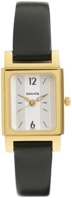 Sonata 87021YL01 Essentials Analog Watch For Women
