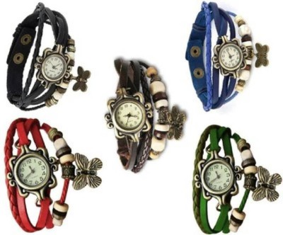 SPINOZA 01S009 multicolor butterfly vintage combo Watch  - For Women
