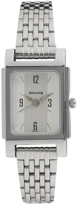 Sonata 87021SM01 Essentials Analog Watch For Women