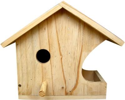 Birdhousebuilder NB0033 House Sparrow Nest Box with Bird Feeder - Bird House Bird House(Hanging, Wall Mounting, Tree Mounting, Free Standing)