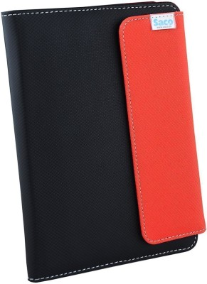 Saco Flip Cover for Xolo QC800 Tab(Red, Black, Artificial Leather)