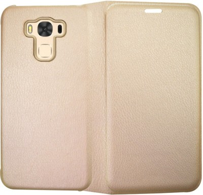 Coverage Flip Cover for Asus Zenfone 3 Max ZC553KL  5.5 Inches  Gold