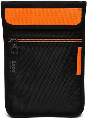 Saco Pouch for Tablet Micromax Funbook Duo P310 Bag Sleeve Sleeve Cover (Orange)(Black, Orange)