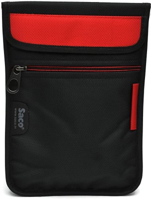 Saco Pouch for Tablet Micromax Funbook Duo P310 Bag Sleeve Sleeve Cover (Red)(Red, Black)