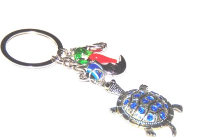 Universal Beautiful Metallic Keychain With Turtle Evil Eye Protection Car Key Chain  available at flipkart for Rs.180