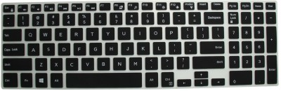 Saco Chiclet Keyboard Skin for Dell Inspiron 15 5559 15.6-inch (Core i5-6200U/4GB/1TB/Windows 10 Home/Integrated Graphics), Matte Silver Keyboard Skin(Black with Clear)  available at flipkart for Rs.355