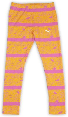 Puma Legging For Girls(Orange Pack of 1) at flipkart