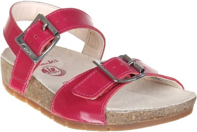 Clarks Girls Buckle Heels(Purple)